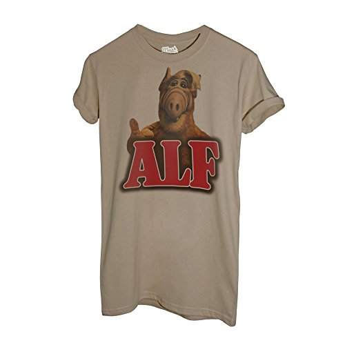 MUSH T-Shirt Telefilm'S 80-Alf - Film by Dress Your Style - Herren-M-Beige