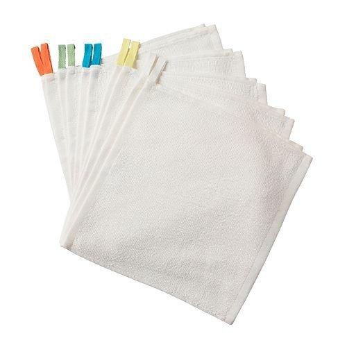 4 X IKEA KRAMA - Waschlappen, weiß / 10er Pack - 30x30 cm