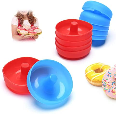 Silicone Donut Mold for Baking Cupcake 12 Pieces Nonstick Flexible Mini Round Doughnut Muffin product image