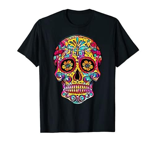 Dia de Muertos Zuckerschädel Halloween Kostüm Tag totes T-Shirt