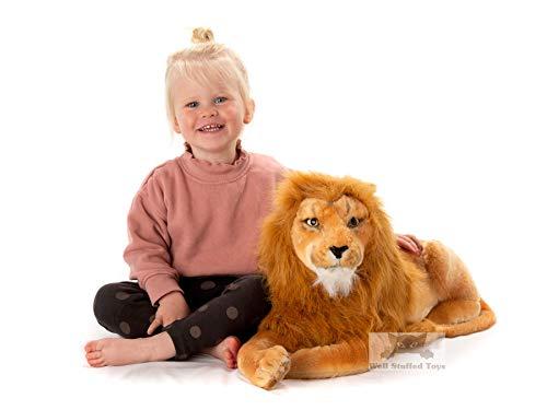 Lion en peluche réaliste 100 cm (101,6 cm) Y Compris la queue