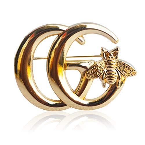 Bee Brosche, Gold Brosche Biene Brosche, Modeschmuck, Oberbekleidung, eleganten Stil als Geschenk für Männer & Frauen