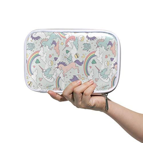 LUPINZ - Bolsa de cosméticos con diseño de unicornio arcoíris para acuarelas,...