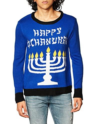 Forum Novelties Men's Menorah Chanukah Sweater, Multi, Medium