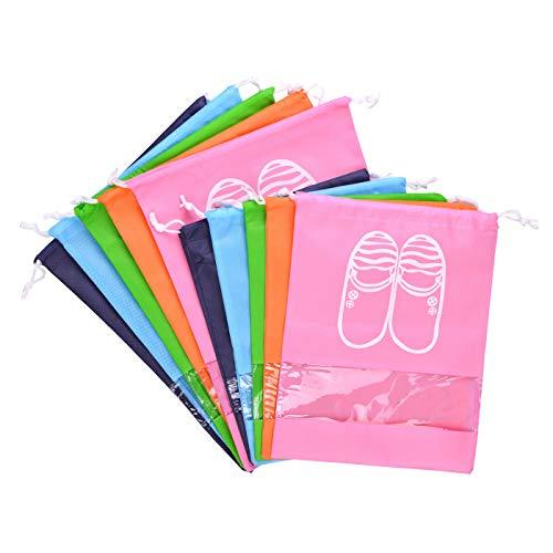 LABOTA 10PCS Bolsas para Zapatos, Zapatos de Viaje Bolso con