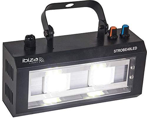 Ibiza Light & Sound STROBE40LED LED Strobe mit 2x 20W