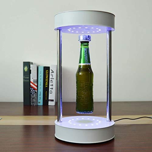 Angel&H Dispositivo de Levitación Magnética Botellero Giratorio de 360 Grados con Luz LED, para Pantalla de Inicio/Pantalla de Productos Básicos