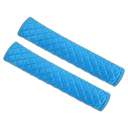 Copertura del pad della cintura del sedile della macchina universale, tamponi del cablaggio del comfort a 2 pacchi Coperture della cinghia del sedile Cover per adulti e bambini per bambini Bambino-blu