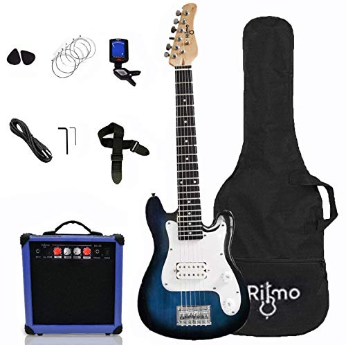Kids 30 Inch Electric Guitar and Amp Complete Bundle Kit for Beginners-Starter Set Includes 6 String...