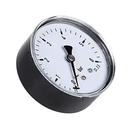 XXguang Druck 0-6 bar Manometer Wasser Gas Luftdruckverdichter 1/4 Zoll NPT-Rückenmontage