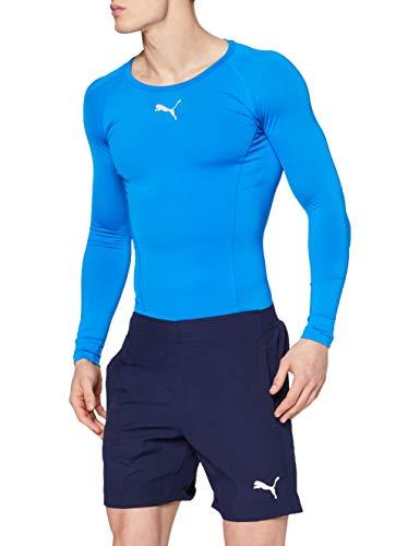PUMA Liga Sideline Woven Shorts Pantalón, Hombre, Azul (Peacoat White), M