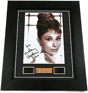 Audrey Hepburn Signed + Audrey Hepburn Film Cells Framed by artcandi