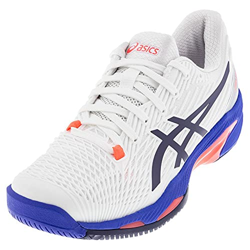 ASICS Women's Solution Speed FF 2 Tennis Shoes, 10, White/Peacoat