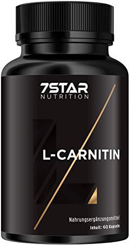 7 Sterne L-Carnitin Extrem hohe Dosierung für Muskelaufbau, Fettverbrennung und Gewichtsabnahme, 60 Kapseln
