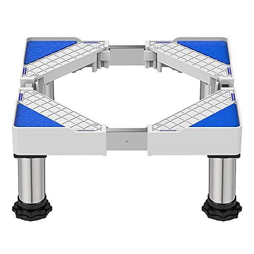 QINGMM Socle Lave Linge, Base réglable Mobile multifonctionnelle, Support d'appareils ménagers avec Support télescopique pour Machine à Laver, sèche-Linge et réfrigérateur,F