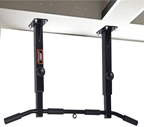 Multi-Grip Pull Up Bar, Oberkörpertraining Bar Deckenmontage, Fitness Chin-Up Frame mit 4 Griffpositionen, Unterstützung bis zu 300 kg, Schwarz