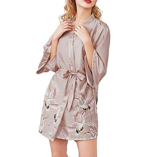 ZREED Satin Kimono Peacock Kimono Robe für Frauen Hochzeit Mädchen Bonding Party Pyjamas