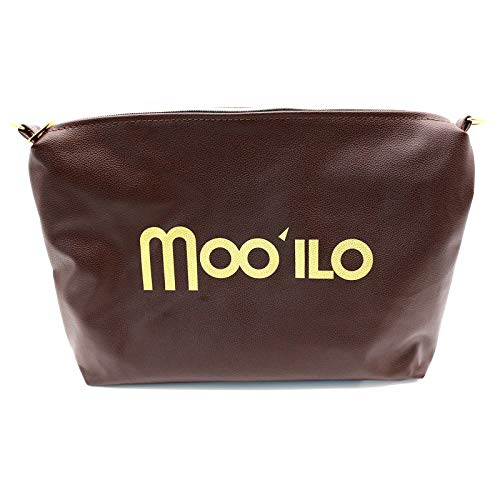 Mooilo - clutch bag - brown gold - inner lining - design, made in Germany.