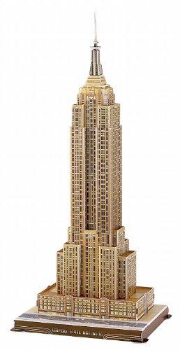 Folia 34004   Modelo en 3D del Empire State Building, 55 piezas [importado de Alemania]