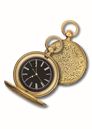 OPO 10 - Reloj de Bolsillo con Gousset, réplica de un Reloj Real de antaño: Dimensiones 9.8x12.3x2.3H (Ref: 204)