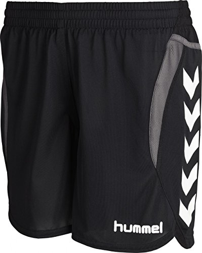 Hummel Damen Shorts Team Player Poly, Black, M, 10-935-2001