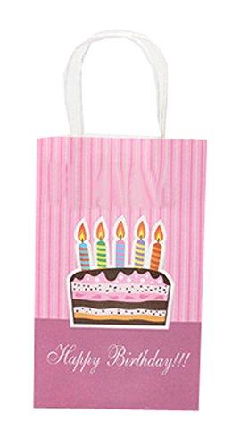 Lot de 10 sacs en papier pour fête enfants fête Sac cadeau en papier, 21,1 cm