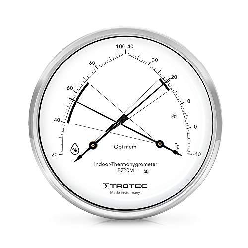 TROTEC BZ20M Thermohygrometer Thermometer Temperatur Optimale Klimakontrolle in Wohnräumen hochwertige Messmechanik Made in Germany