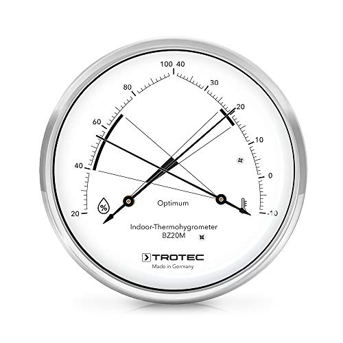 TROTEC BZ20M Thermohygrometer Thermometer Temperatur Optimale Klimakontrolle in Wohnräumen hochwertige Messmechanik Made in Germany