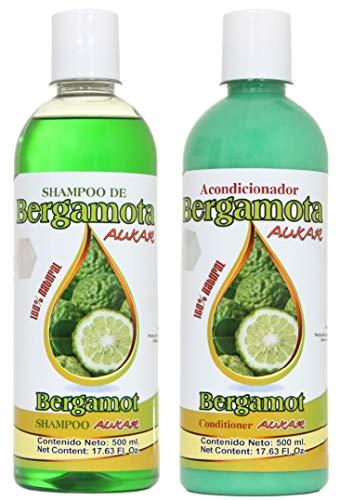 Bergamot Shampoo and Bergamot Conditioner (SET) 500 ml ea. 100% Natural, Hair Regrowth & No more Dryness. Volume, Thickness and Brightness