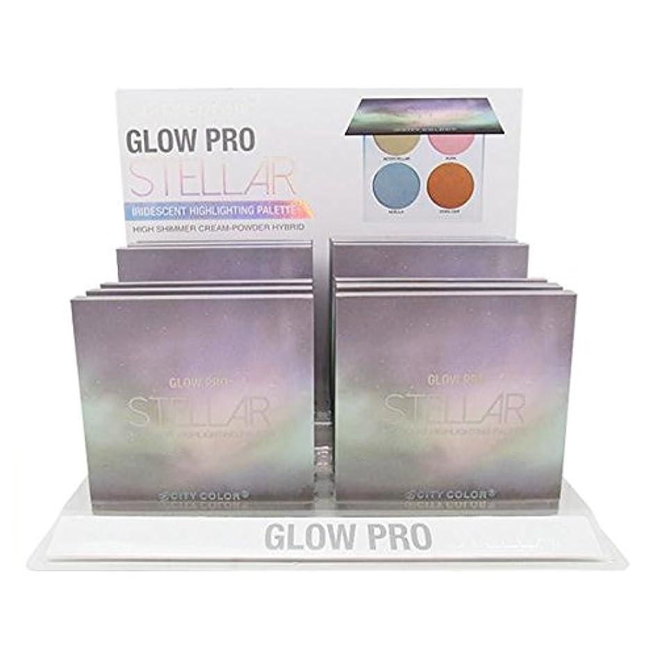 質量ファイアル部族CITY COLOR Glow Pro Stellar Iridescent Highlighting Palette Display Set, 12 Pieces (並行輸入品)