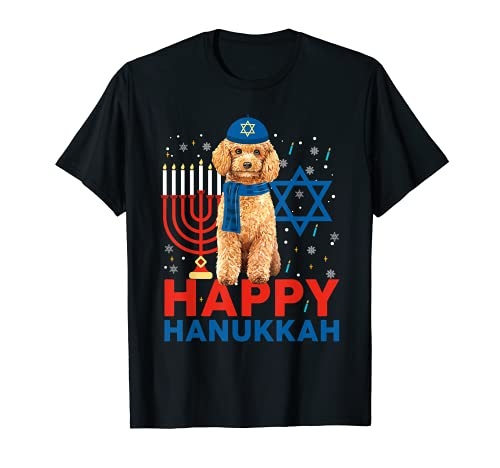 Happy Hanukkah Caniche Para Perro Judío Caniche Camiseta