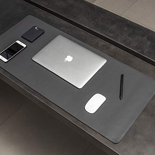 Desk Pad Max Mouse Pad em Couro Sintético Bull Pad 90 x 40 cm