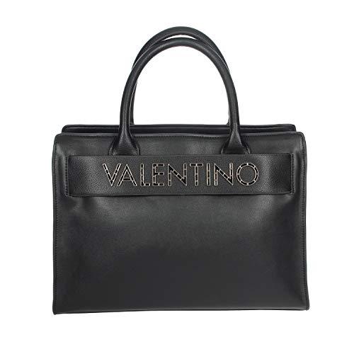 Mario Valentino Valentino by Damen Fisarmonica Henkeltasche, Schwarz (nero), 14x25x34 cm
