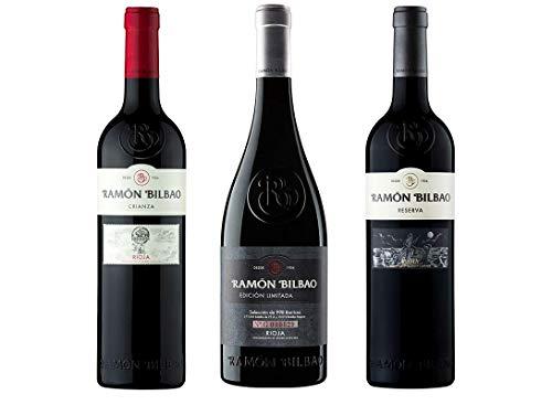 Pack Mysecretwine Ramón Bilbao. 1 Ramón Bilbao Crianza, 1 Ramón Bilbao Edición Limitada y 1 Ramón Bilbao Reserva
