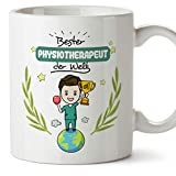 MUGFFINS Tasse/Becher Physiotherapeut (Beste der Welt) - Lustige und Originelle Physiotherapie Geschenke