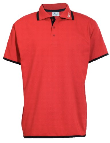 KS Tools 985.0152 Polo-shirt, rood met zwarte rand M