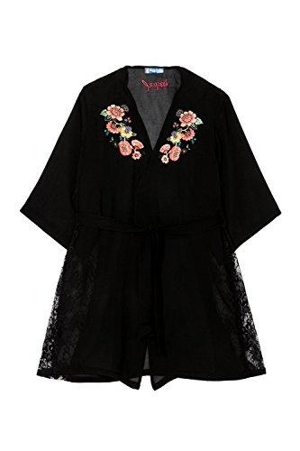 Desigual 18SNUW062000 - Kimono - Special Day - Negro (L/XL)