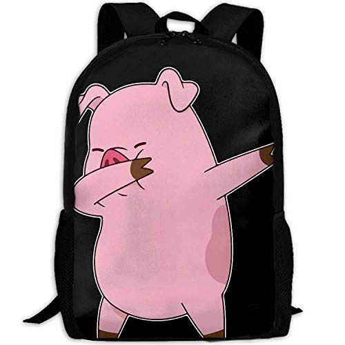 Funny Pig Dabbing Fashion Outdoor Shoulders Bag Durable Travel Camping Backpack For Adult