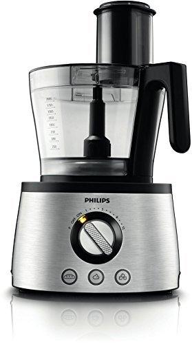 Philips HR7778/00 Küchenmaschine (1.300 Watt, inkl. Knethaken, Entsafter, Standmixer und Zitruspresse) schwarz/silber - 3