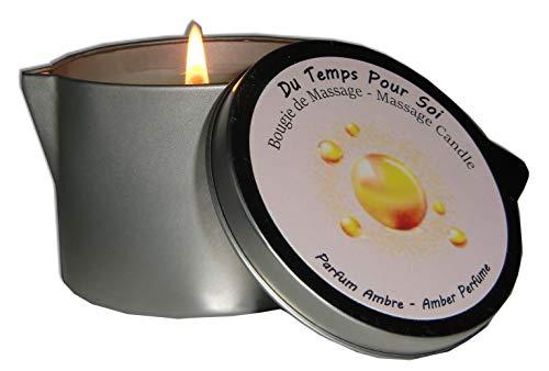 Storepil - Candela da massaggio al Profumo di Ambra, Peso: 150 g