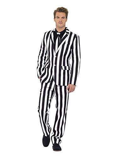 Smiffys, Herren Gauner Anzug, Jacke, Hose und Krawatte, Größe: M, 43536