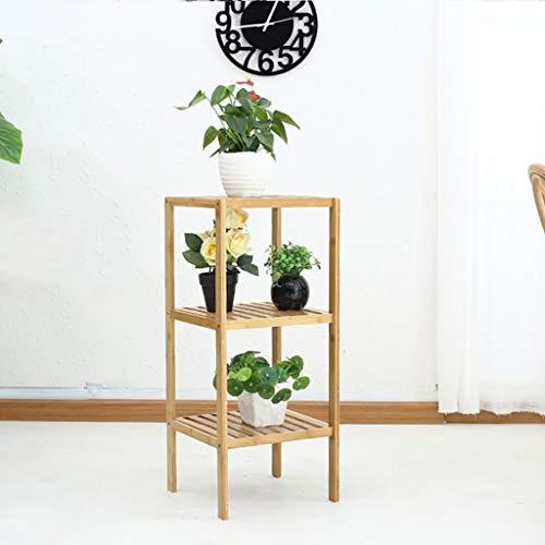 Unknow Bamboo Life Flower Stand Combinaison de Plusieurs étages Balcon de Fleurs Balcon Balcon Salon Flower Racks Jardinage Suspendu Planlers Paniers (Taille: L)