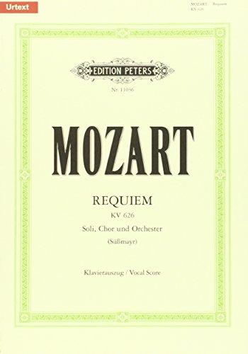 Requiem d-Moll KV 626 / SmWV 105 / URTEXT: Vervollständigung Süßmayr, Neuausgabe nach den Quellen / Klavierauszug
