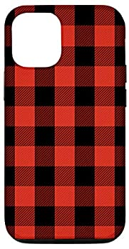 iPhone 12/12 Pro Red & Black Checkered Plaid Flannel Gingham Pattern AEN325 Case