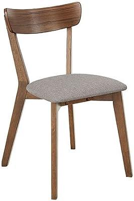 Progressive Furniture Dining Chair in Warm Walnut Finish