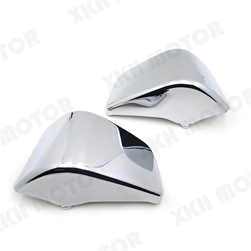 Price comparison product image XKH- Battery Side Fairing Cover Compatible with Honda Shadow ACE750 VT400 1997-2003 Chrome [B01N0XYVS8]