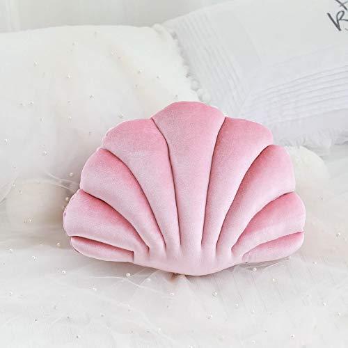 Cojín decorativo con forma de conchas, cojín Scallop Shells, cojín de peluche de polipropileno, cojín decorativo, ideal como regalo, rosa, 34 * 25 cm