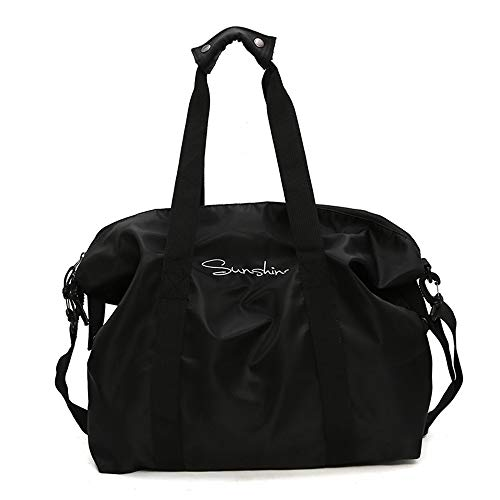 QLJJ Gym Bag Sports Waterproof Duffel Bag For Men And Women Ideal Gym Bag Or Travel Holdall Sports Bag for Men and Women (Color : Black, Size : 15 * 40 * 43cm)