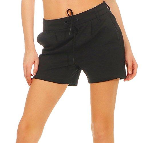 ONLY NOS Damen Shorts onlPOPTRASH Easy NOOS, Schwarz (Black), 36 (Herstellergröße: S)
