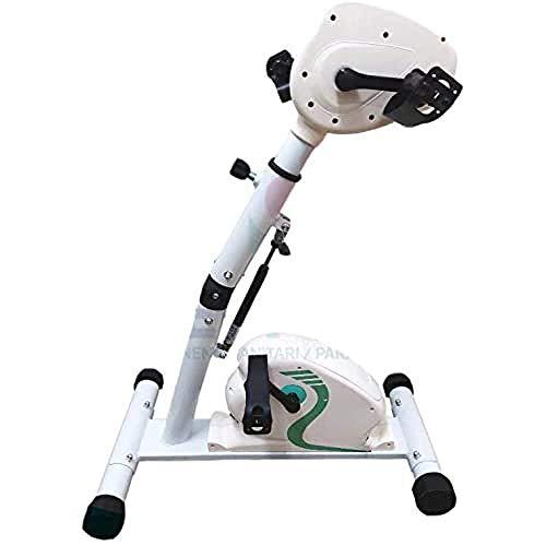 Medplus MMDK416C PEDALIERA Combi ELETTRICA per Terapia Riabilitazione/Cyclette Ginnastica Attiva-PASSIVA ASSISTITA per Braccia E Gambe con Computer di Bordo, verde
